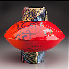 UFO Vase by Michael  Kifer (Ceramic Vase)