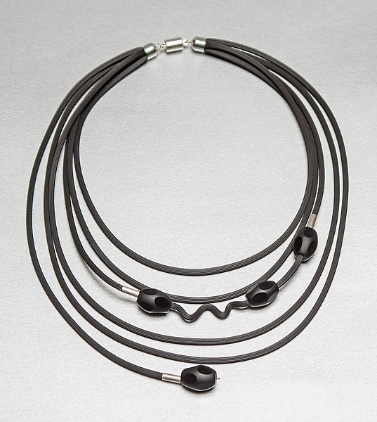 Playful Black Necklace