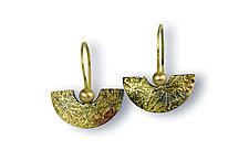 Sun and Half Moon Earrings by Susan Ronan (Gold & Steel Earrings)