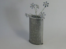 Pine Needle Bud Vase by Ann Thompson (Metal Vase)