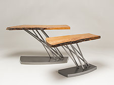 Windswept Side Table by Ken Girardini and Julie Girardini (Metal Side Table)