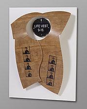 Life Vest 9-16 by Erik Wolken (Wood Wall Sculpture)