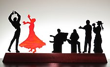 Flamenco II by Bernie Huebner and Lucie Boucher (Art Glass Sculpture)