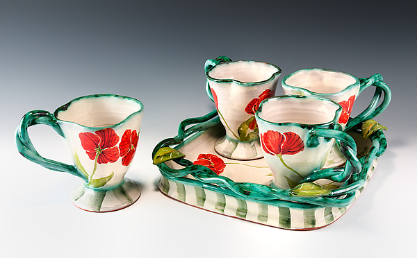 Poppy Teacup Set