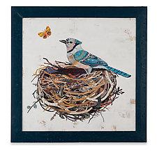 Blue Jay by Dolan Geiman (Mixed-Media Wall Art)