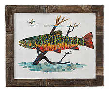 Fly Fishing Collection: Brook Trout (Collage) by Dolan Geiman (Mixed-Media Wall Art)