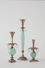 Luxe Candleholders by Mollie Woods (Mixed-Media Candlestick)