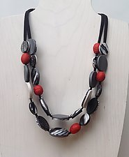 Sabrina Two Strand Necklace by Klara Borbas (Polymer Clay Necklace)
