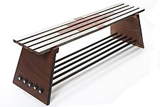 Locksaw Bench by Wes Walsworth (Wood & Steel Bench)