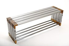 Selway Bench by Wes Walsworth (Wood & Steel Bench)