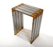 Selway Side Table by Wes Walsworth (Wood & Steel Side Table)