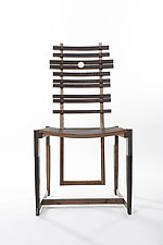 Doe Dining Chair by Wes Walsworth (Wood & Steel Chair)