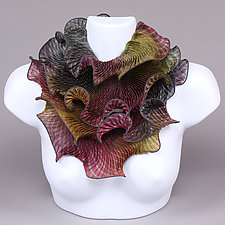 Infinity Scarf in Ruby and Smoke by Min Chiu and Sharon Wang (Silk Scarf)