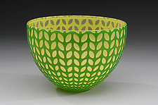 Leaf Bowl by Carrie Gustafson (Art Glass Bowl)