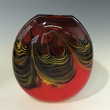 Mars Pocket Vase by Jennifer Nauck (Art Glass Vase)