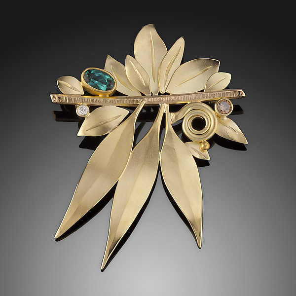Wind in the Leaves Brooch