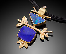 Sky & Water Through The Branches Pendant by Ben Dyer (Gold & Stone Necklace)
