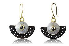 No Holes Barred Earrings by Nancy Troske (Gold, Silver & Stone Earrings)