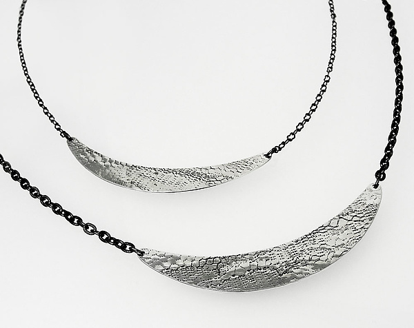 Lunette Necklace in Silver