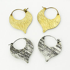 Anna Hoops by Heather Perry (Silver or Brass Earrings)