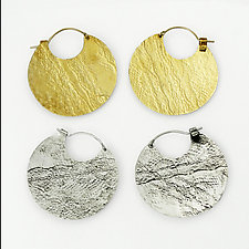 Helena Hoops by Heather Perry (Silver or Brass Earrings)