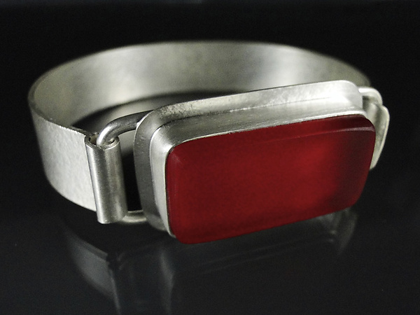 Red Traffic Light Cuff Bracelet