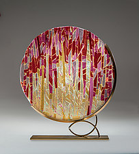Sunrise Sunset by Varda Avnisan (Art Glass Sculpture)