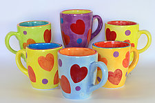 Love Mugs by Rod  Hemming (Ceramic Mug)