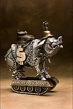 Armored Pig by Scott Nelles (Metal Sculpture)