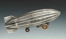 Dirigible Coin Bank by Scott Nelles (Metal Sculpture)