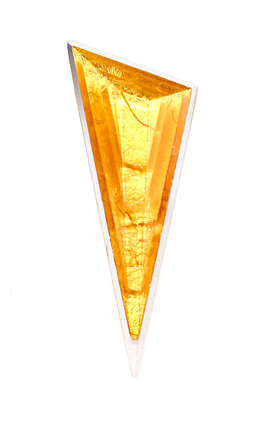 Acrylic & Gold Triangle Brooch