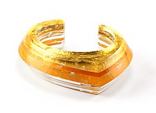 Acrylic & Gold Beveled Cuff by Jennifer Merchant (Gold & Acrylic Bracelet)