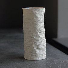 Horizontal Vellum Bud Vase by Clementine Porcelain (Ceramic Vase)