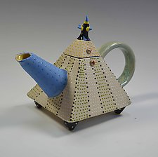 Stripe Teapot by Vaughan Nelson (Ceramic Teapot)