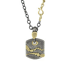 Two Rivers Dogtag by Rona Fisher (Gold & Silver Necklace)