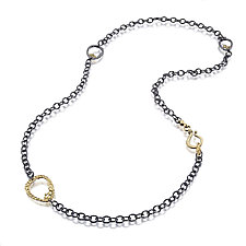 Open Pebbles Necklace by Rona Fisher (Gold & Silver Necklace)