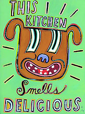 This Kitchen Smells Delicious by Hal Mayforth (Giclee Print)