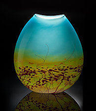 Meadow Pouch Vase by John & Heather  Fields (Art Glass Vase)