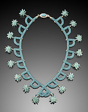 Art Deco Dangles Necklace by Kathy King (Beaded Necklace)