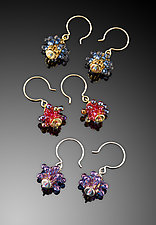 Bubbles Earrings - Brights by Kathy King (Beaded Earrings)