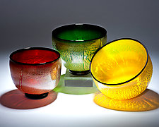 Silver Leaf Bowls by Chris McCarthy (Art Glass Bowl)