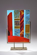 Luminosity #2 by Varda Avnisan (Art Glass Sculpture)