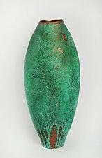 Copper Patina Vase by Cheryl Williams (Ceramic Vase)
