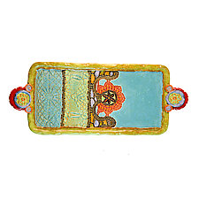 Sarah's Basket Long Tray by Laurie Pollpeter Eskenazi (Ceramic Tray)