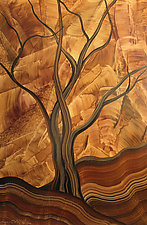 A Tree by Ingela Noren and Daniel  Grant (Wood Wall Sculpture)
