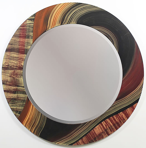 River Tiger Round Mirror
