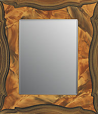 Russia Beveled Mirror by Ingela Noren and Daniel  Grant (Wood Mirror)