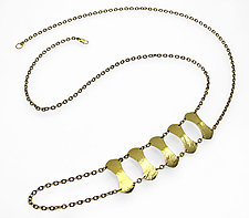 Alexis Shield Necklace by Heather Perry (Brass Necklace)