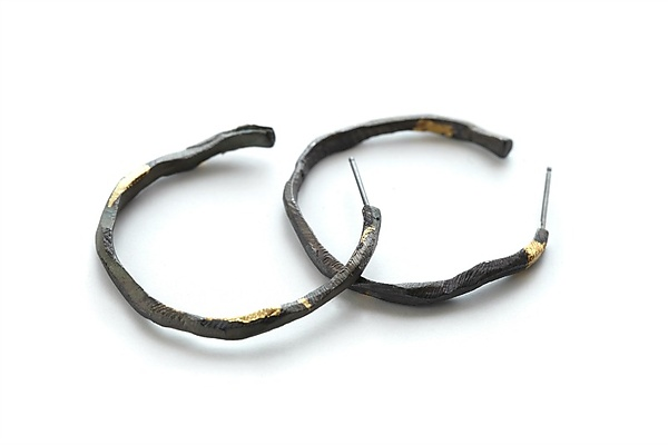 Oxidized Stonehenge Hoops