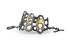 Oil Slick Cuff by Shauna Burke (Gold & Silver Bracelet)